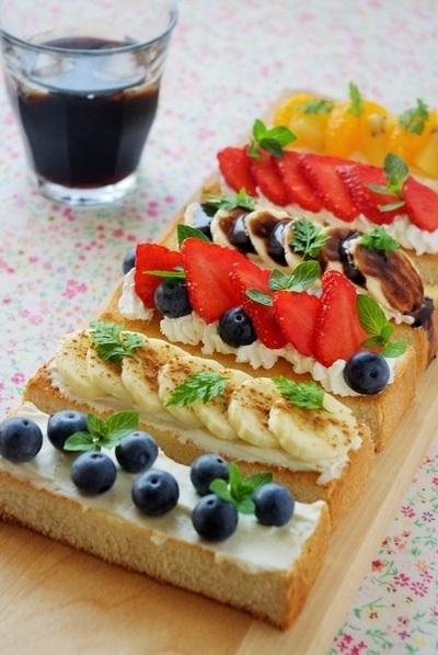 當早餐!水果單片三明治食譜① 起首是根本的製造方法♡