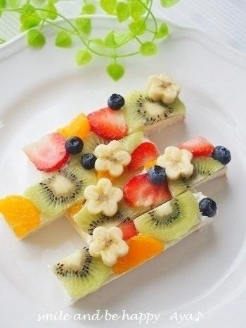 當早餐!水果單片三明治食譜③ 添加進白巧克力