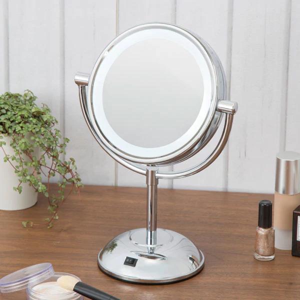 ニトリ LED卓上ミラー円形 5倍鏡