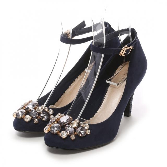 RANDAのおすすめビジュー靴③▷ビジューグリッターヒールパンプス