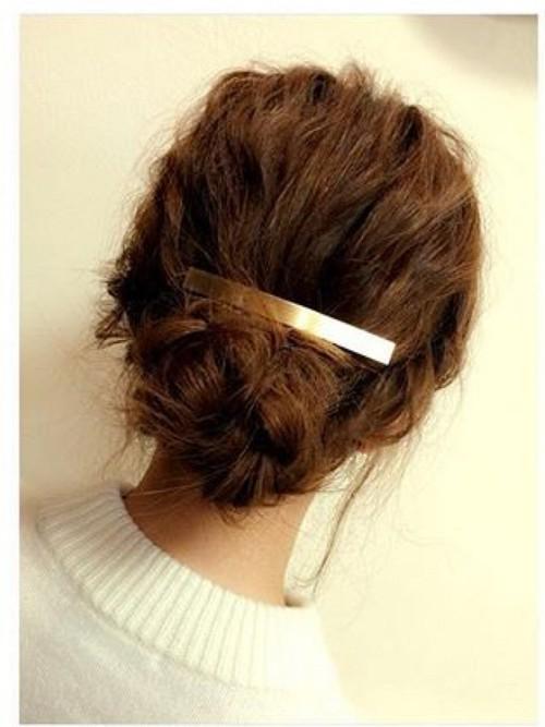 つけるだけでエレガント♡バレッタのヘアアレンジ方法♪その1