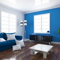 ブルーのアイテムをON。見た目から涼しい部屋になる模様替え案♪