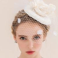 クラシカルドレスにぴったり!結婚式にオススメのウェディングハット