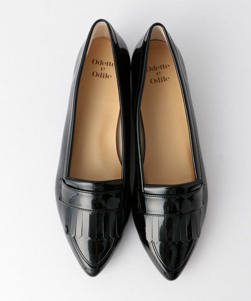 ガウチョ×ぺたんこ靴のコーデ③明るめ夏カラーには、黒小物で全身を引き締める♪