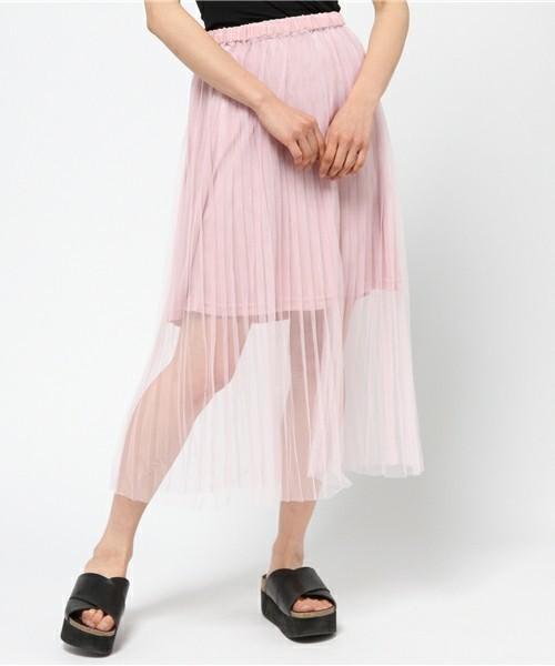 大人の色気漂う♡ひざ下丈スカートは透け感重視!その2