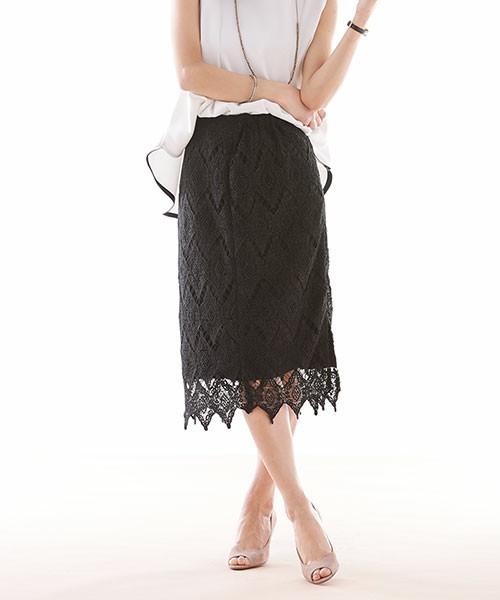 大人の色気漂う♡ひざ下丈スカートは透け感重視!その3